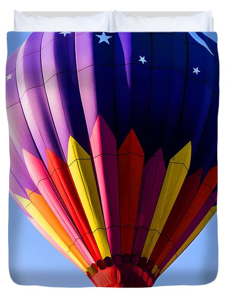 Hot Air Ballooning in Vermont Duvet Cover by Edward Fielding