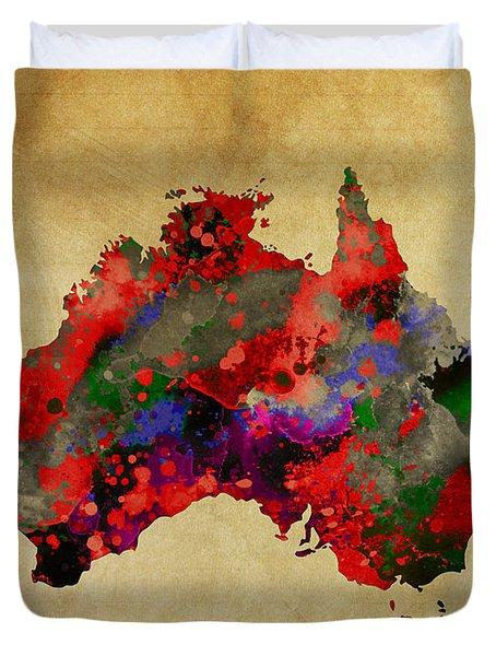 Hot Australia Map Duvet Cover by Daniel Hagerman