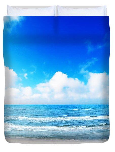 Hot Summer Beach Duvet Cover by Michal Bednarek