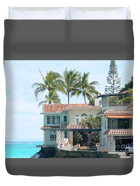 House At Land's End Duvet Cover by Dona  Dugay