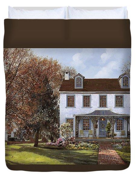 house Du Portail  Duvet Cover by Guido Borelli
