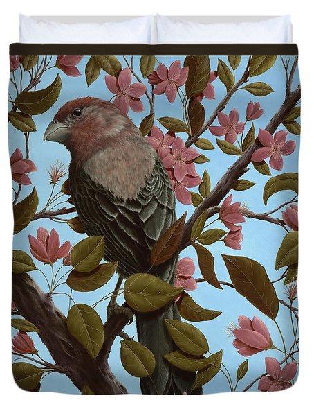 House Finch Duvet Cover by Rick Bainbridge