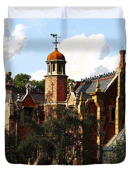 House Of 999 Ghosts Duvet Cover by David Lee Thompson