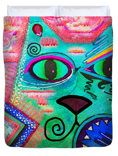 House Of Cats Series - Spike Duvet Cover by Moon Stumpp