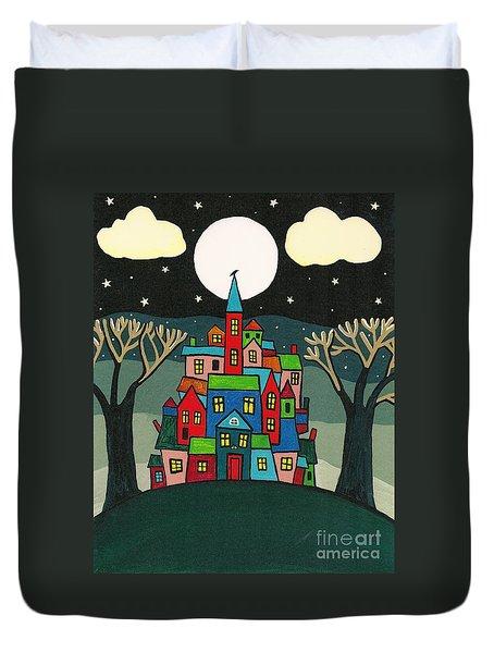 House Of The Crow Duvet Cover by Margaryta Yermolayeva