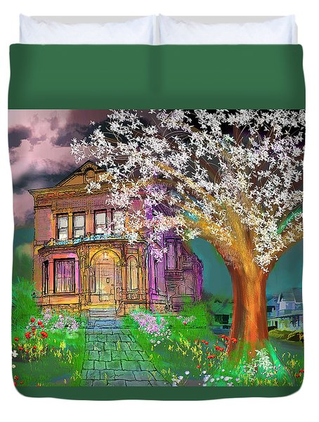 House On Milbert Street Duvet Cover by Gerry Robins