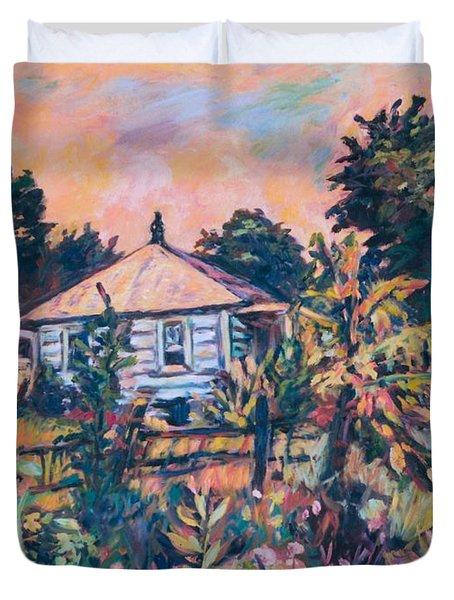 House On Route 11 Duvet Cover by Kendall Kessler