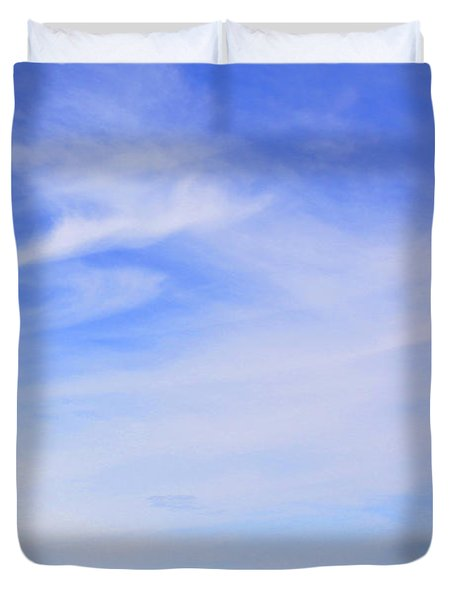 House on the Hill Duvet Cover by Mike McGlothlen