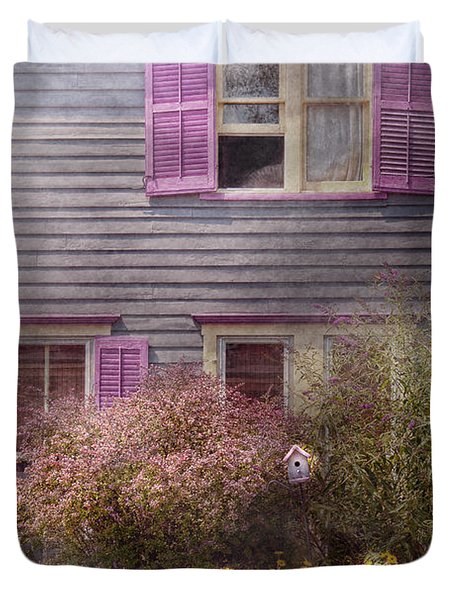 House - Victorian - A house to call my own  Duvet Cover by Mike Savad