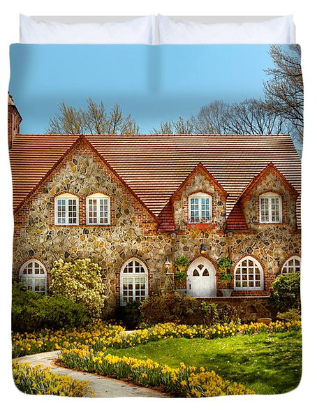 House - Westfield NJ - The estates  Duvet Cover by Mike Savad