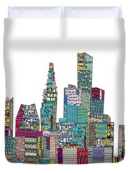 Houston Duvet Cover by Bri B