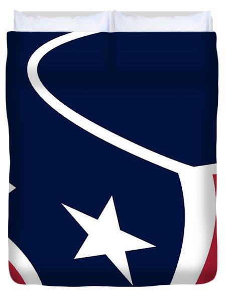 Houston Texans Duvet Cover by Tony Rubino