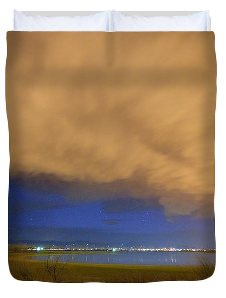 Hovering Stormy Weather Duvet Cover by James BO  Insogna