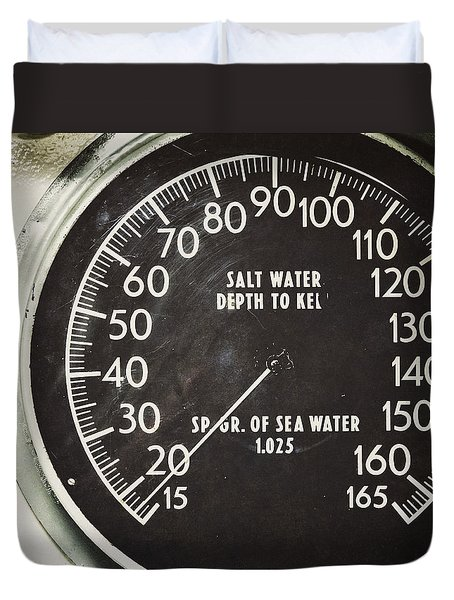 How Deep Is The Sea Duvet Cover by Lisa Russo