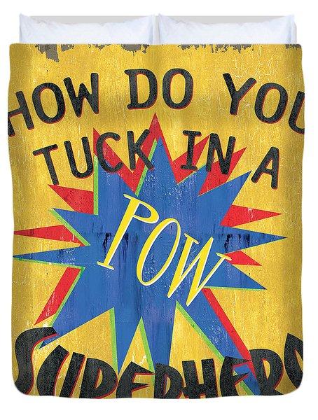 How Do You Tuck... Duvet Cover by Debbie DeWitt