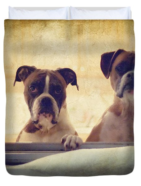 How Much Is That Doggie In The Window? Duvet Cover by Stephanie McDowell