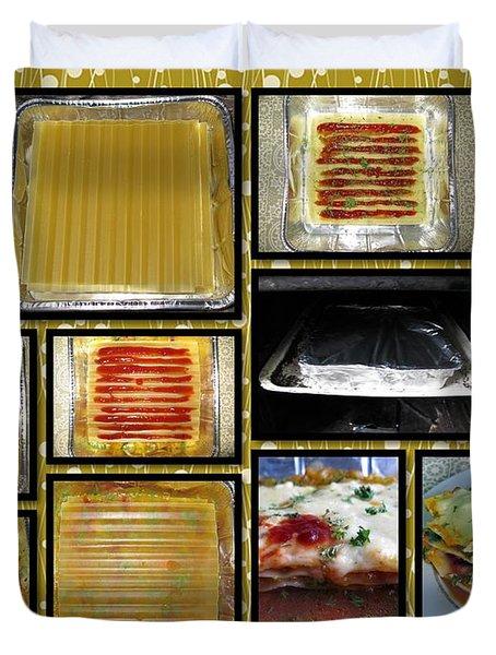 How To Make Your Own Vegan Lasagne Duvet Cover by Ausra Huntington nee Paulauskaite