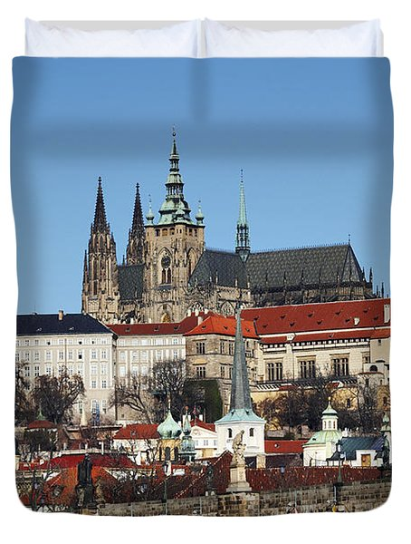 Hradcany - Prague castle Duvet Cover by Michal Boubin
