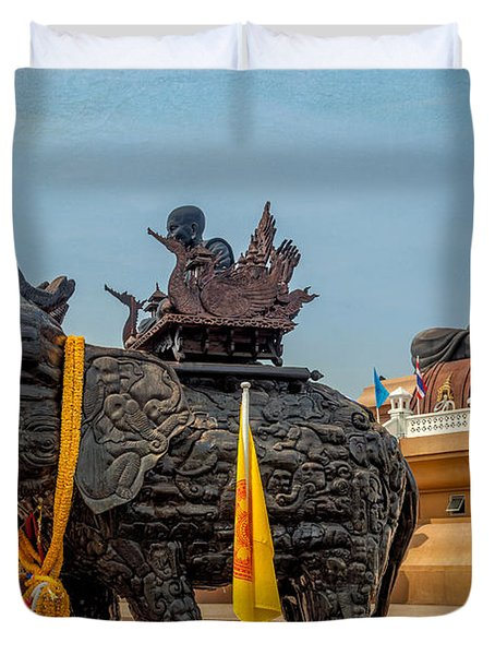 Huay Mongkol Temple  Duvet Cover by Adrian Evans