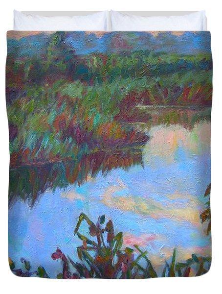 Huckleberry Line Trail Rain Pond Duvet Cover by Kendall Kessler