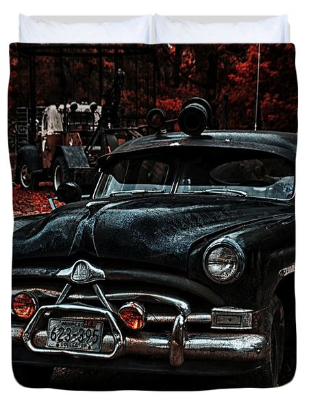 Hudson Trooper Cruzer Duvet Cover by Todd and candice Dailey
