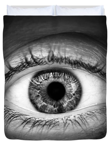 Human Eye Duvet Cover by Elena Elisseeva
