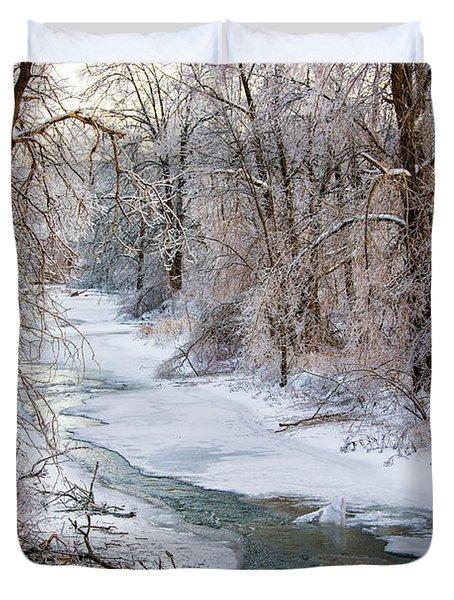 Humber River Winter Duvet Cover by Steve Harrington