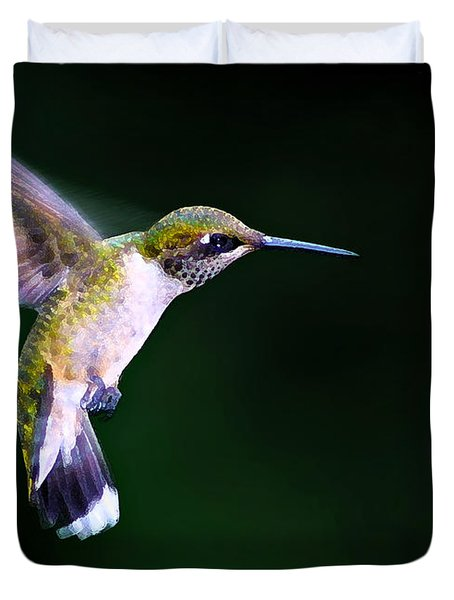 Hummer Ballet 2 Duvet Cover by Bill Caldwell -        ABeautifulSky Photography