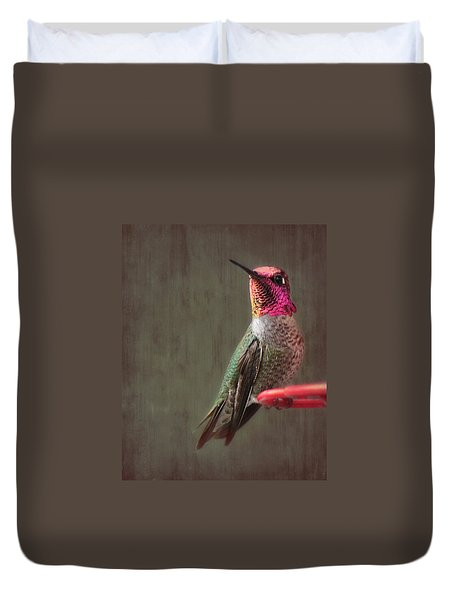 Hummingbird Flare Duvet Cover by Melanie Lankford Photography