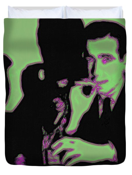Humphrey Bogart and The Maltese Falcon 20130323 Square Duvet Cover by Wingsdomain Art and Photography