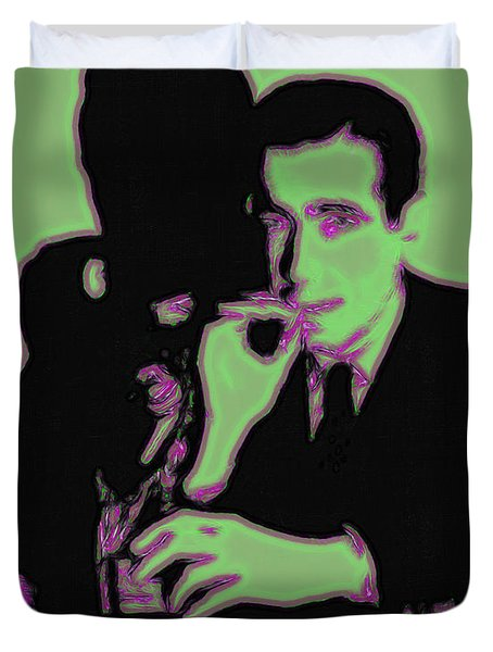 Humphrey Bogart and The Maltese Falcon 20130323 Duvet Cover by Wingsdomain Art and Photography