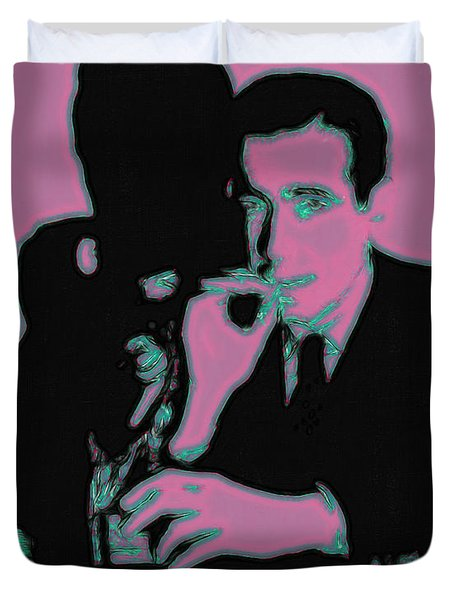 Humphrey Bogart And The Maltese Falcon 20130323m138 Duvet Cover by Wingsdomain Art and Photography