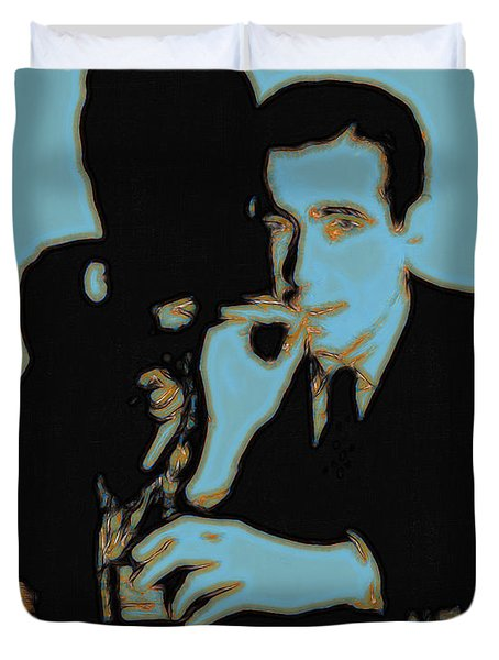 Humphrey Bogart and The Maltese Falcon 20130323p88 Duvet Cover by Wingsdomain Art and Photography