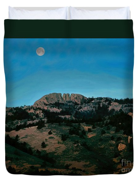 Hunter's Moon Duvet Cover by Jon Burch Photography