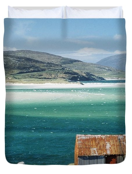 Hut On West Coast Of Isle Duvet Cover by Rob Penn