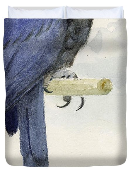 Hyacinth Macaw Duvet Cover by Henry Stacey Marks