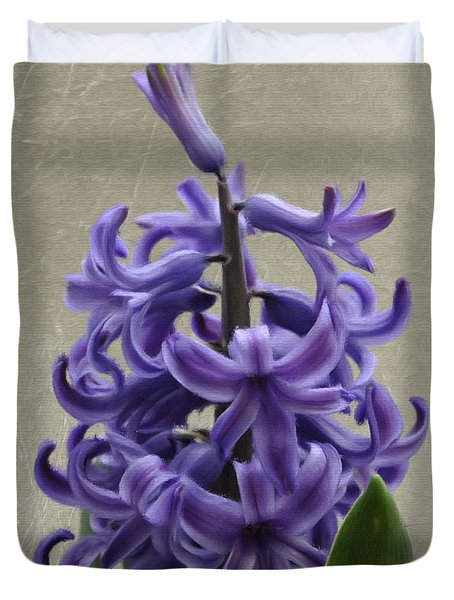 Hyacinth Purple Duvet Cover by Jeff Kolker