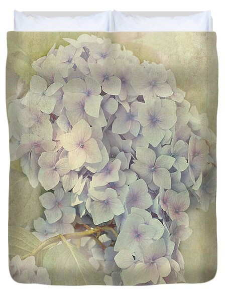 Hydrangea Macrophylla Blue Bonnet Duvet Cover by John Edwards