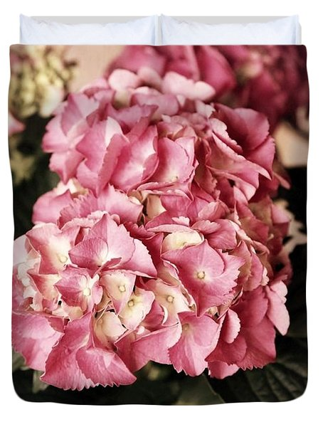 Hydrangea On The Veranda Duvet Cover by Carol Groenen