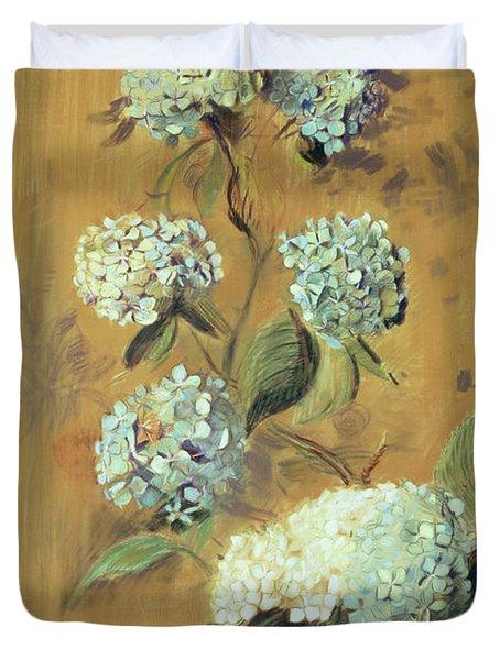 Hydrangeas Duvet Cover by Paul Cesar Helleu