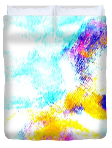 I am floating away Duvet Cover by Hilde Widerberg