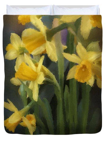 I Believe - Flower Art Duvet Cover by Jordan Blackstone