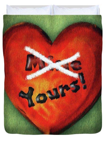 I Gave You My Heart Duvet Cover by Jeff Kolker