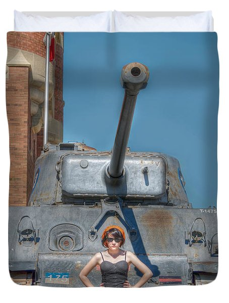 I Have A Tank.  Your Argument Is Invalid Duvet Cover by Lisa Knechtel