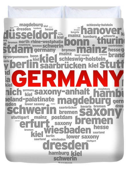 I Love Germany Duvet Cover by Aged Pixel