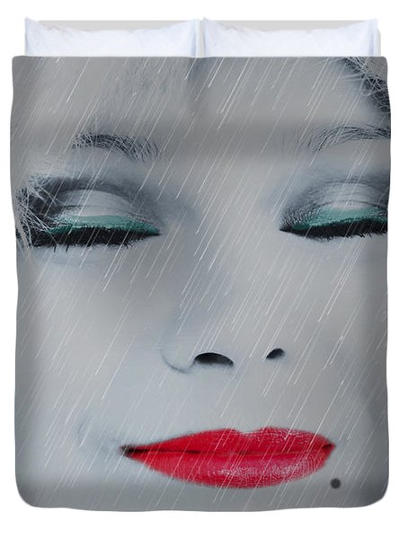I LOVE TO SMELL FRESH RAIN Duvet Cover by EricaMaxine  Price