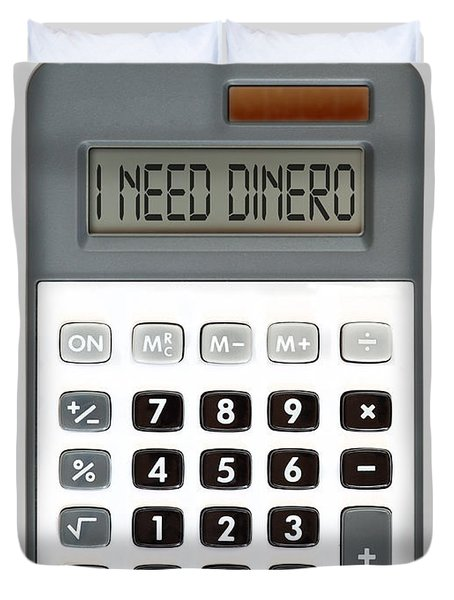I need dinero Duvet Cover by Michal Boubin