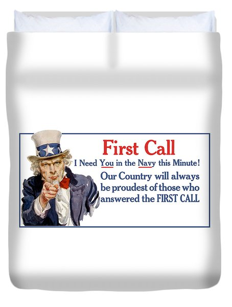 I Need You In The Navy - Uncle Sam Wwi Duvet Cover by War Is Hell Store