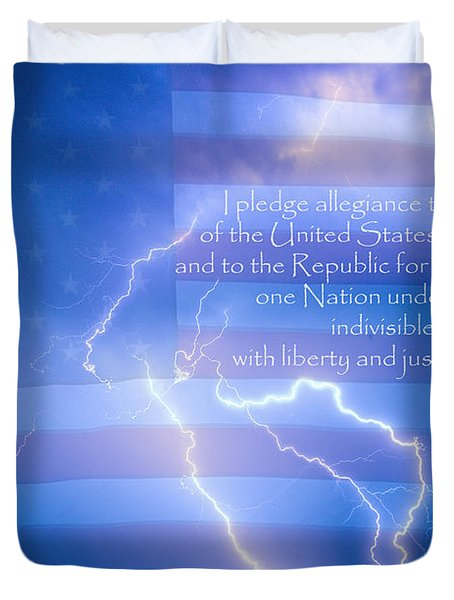 I Pledge Allegiance To The Flag  Duvet Cover by James BO  Insogna