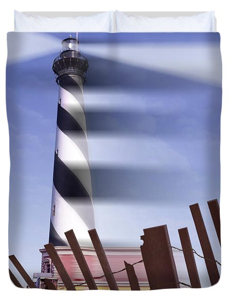 I Saw The Lighthouse Move Duvet Cover by Mike McGlothlen
